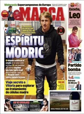 Portada Marca: apoyo a Luka Modric