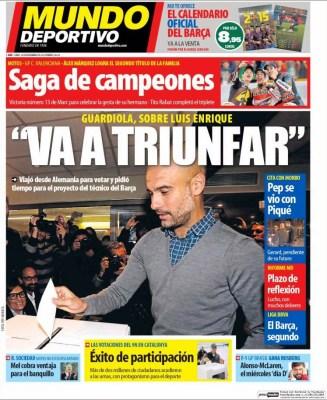 Portada Mundo Deportivo: Pep Guardiola
