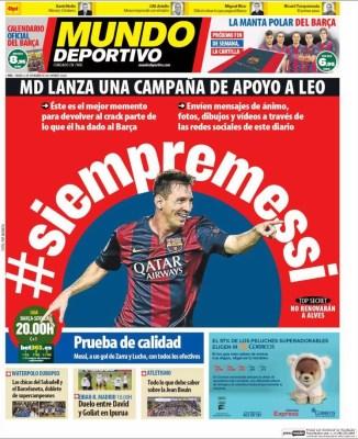Portada Mundo Deportivo: campaña #siempremessi
