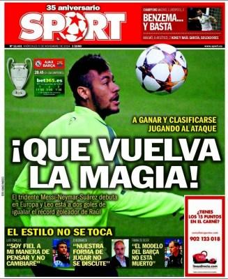 Portada Sport: Neymar