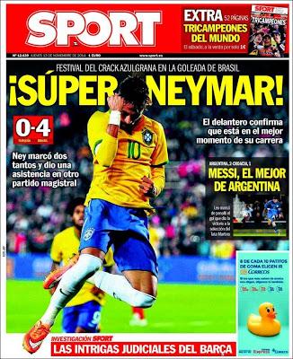 Portada Sport: Super Neymar
