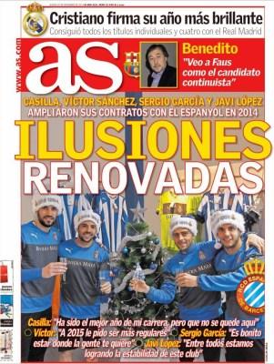 Portada AS: Ilusiones Renovadas espanyol