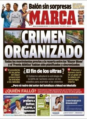 Portada Marca: crimen organizado en los ultras
