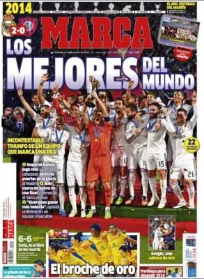 Portada Marca: Real Madrid Campeón del Mundial de Clubes 2014 san lorenzo