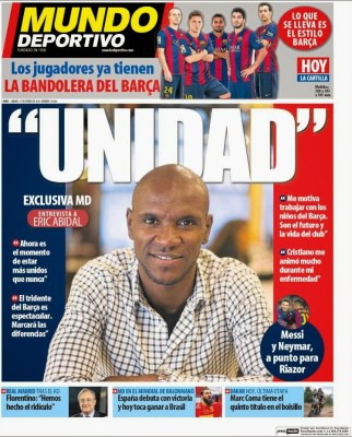 Portada Mundo Deportivo: Eric Abidal