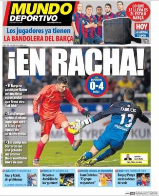 Portada Mundo Deportivo: El Barça en racha