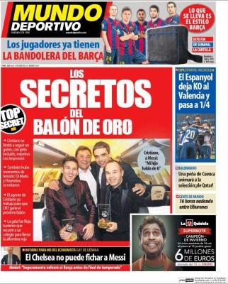 Portada Mundo Deportivo: los secretos del Balón de Oro