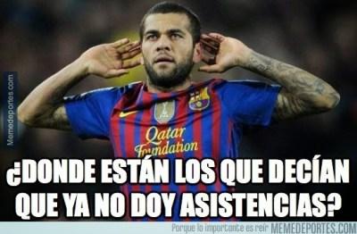 Los mejores memes del Barça-Málaga: Liga Española dani alves