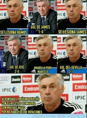 Los mejores memes del Real Madrid-Sevilla: Liga Española ancelotti