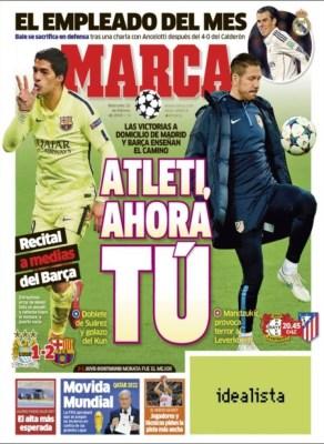 Portada Sport: Atleti, Ahora tú