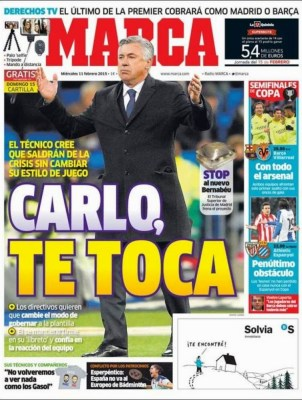 Portada Marca: Carlo te toca ancelotti