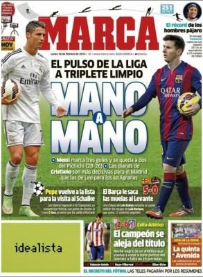 Portada Marca: CR7 y Messi mano a mano