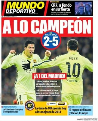 Portada Mundo Deportivo: a lo Campeón barcelona atletico