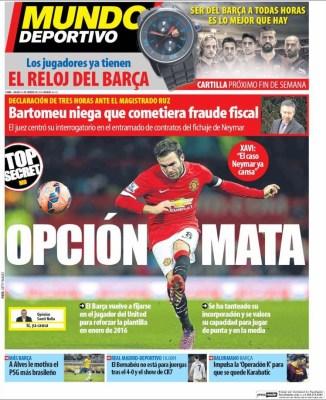 Portada Mundo Deportivo: opción Mata