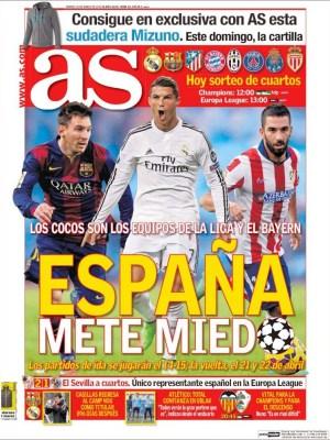 Portada AS: España mete miedo champions