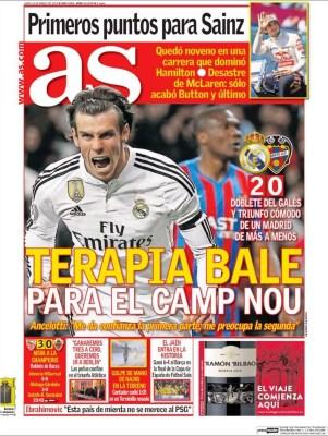 Portada Sport: Terapia Bale camp nou