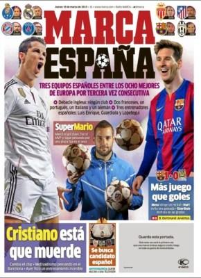 Portada Marca: tres equipos españoles en cuartos