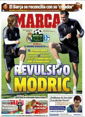 Portada Marca: vuelve Modric