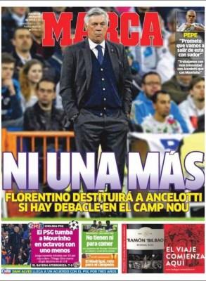 Portada Marca: Ni una más ancelotti sentenciado