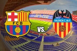 Alineación y la previa Barcelona-Valencia. Jornada 32