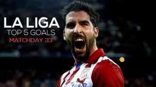 Los cinco mejores goles de la Jornada 33: Liga Española 2015