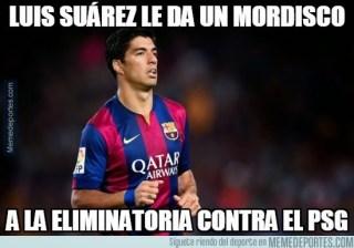 Los mejores memes del PSG-Barcelona: Cuartos Champions suarez