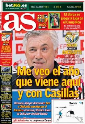 Portada AS: Carlo Ancelotti