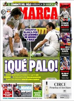 Portada Marca: Que palo, Bale y Modric lesionados