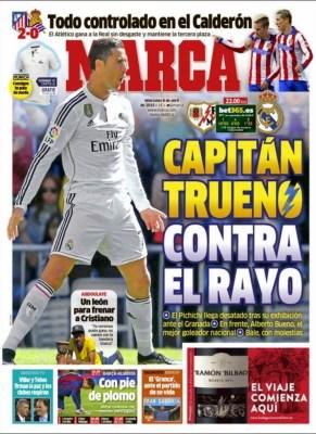 Portada Marca: Cristiano Ronaldo, capitán trueno