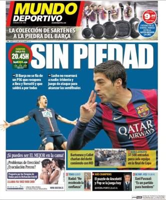 Portada Mundo Deportivo: Sin Piedad con el psg