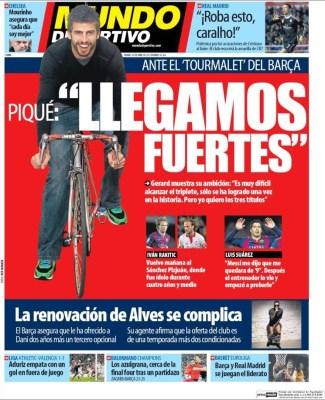Portada Mundo Deportivo: Gerard Pique