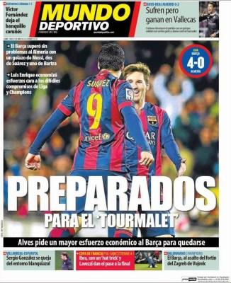 Portada Mundo Deportivo: preparados para el tourmalet