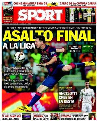 Portada Sport: asalto final a la liga