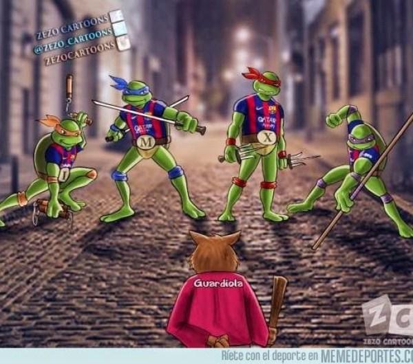 Los mejores memes del Barcelona-Bayern Munich: Semis Champions tortugas ninja pep guardiola