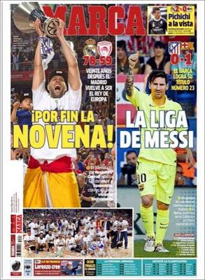 Portada Marca: la liga de Messi campeon 2015