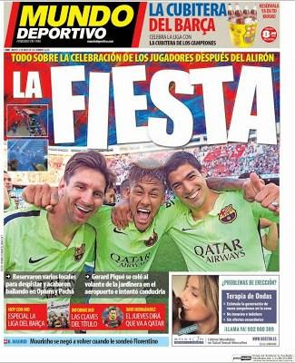 Portada Mundo Deportivo: La fiesta del Barça