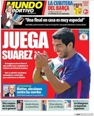 Portada Mundo Deportivo: Juega Suárez la final de Copa del Rey