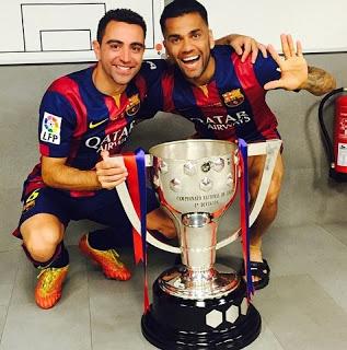 copa liga 2015 instagram xavi y Dani Alves