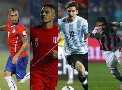 Alineaciones Semifinales: Copa América 2015