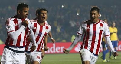 Brasil 1 (3)-Paraguay 1 (4). Cuartos de final Copa América