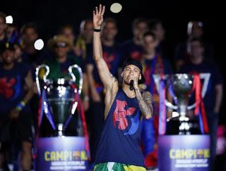 messi neymar festejos camp nou champions 2015