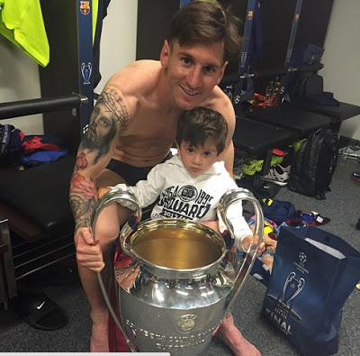 messi thiago champions league 2015