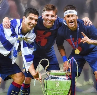 instagram messi suarez nemar champions 2015