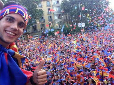 La rua de los Campeones champoions barcelona 2015 bartra