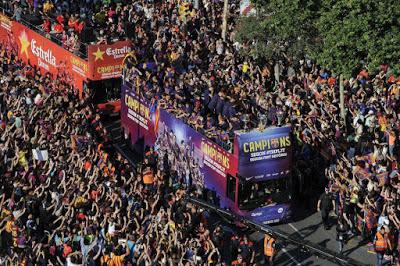 La rua de los Campeones champoions barcelona 2015