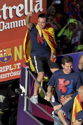 La rua de los Campeones champoions barcelona 2015 xavi