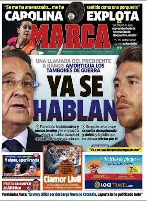 Portada Marca: Sergio Ramos y Florentino