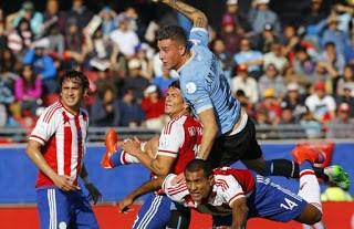 Uruguay 1-Paraguay 1. Copa América 2015 Grupo B