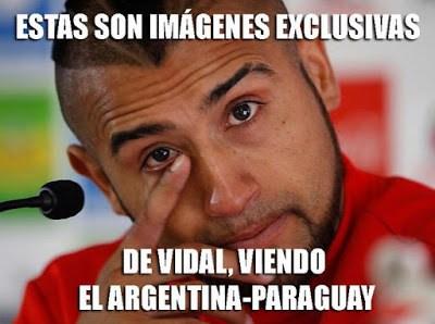 Los mejores memes del Argentina 6-Paraguay 1. Copa América  vidal