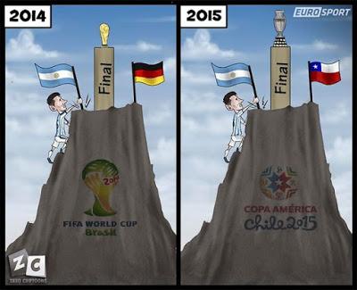 Los mejores memes del Chile-Argentina. Final Copa América 2015 messi